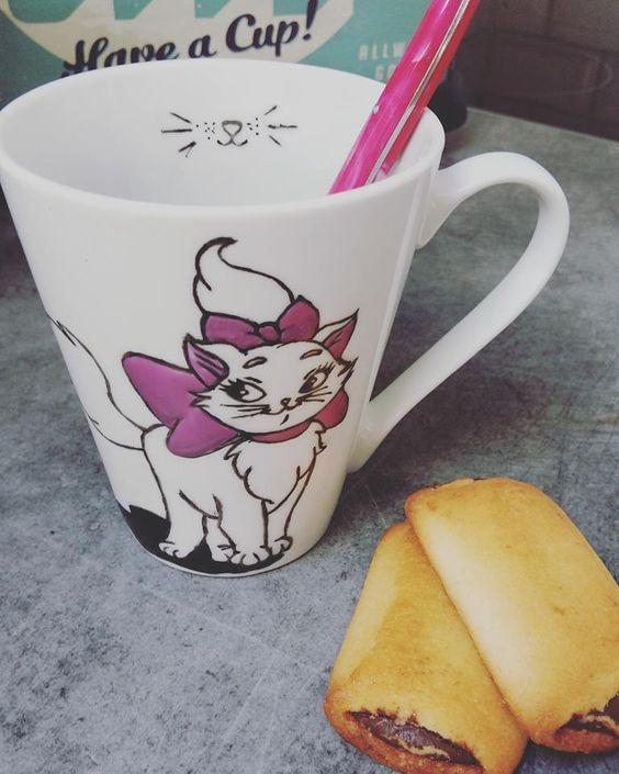 mug chat disney marie les aristochat vaisselle verres par clothilde patte de