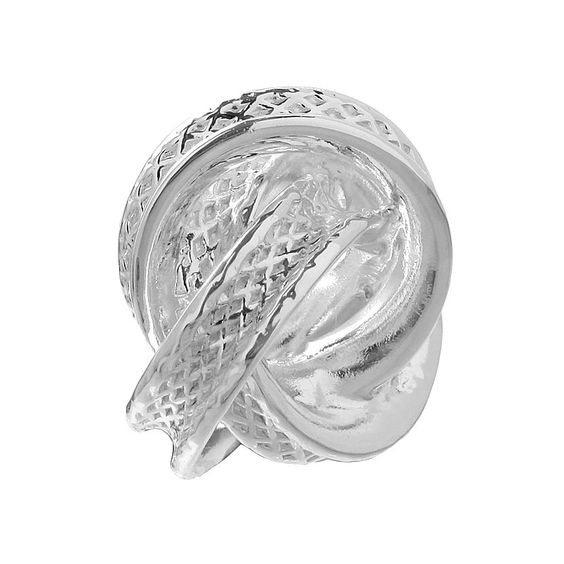 Individuality Beads Sterling Silver Love Knot Bead, Grey
