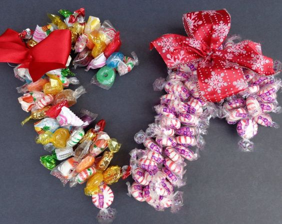 Candy Cane Unique Gift Grab Bag Teacher by CandyWreathsbyCarla
