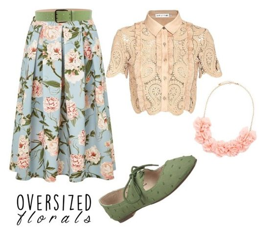 """Vintage florals."" by marielatd ❤ liked on Polyvore featuring Miss Selfridge, self-portrait, Restricted, Dsquared2, Forever 21 and vintage"