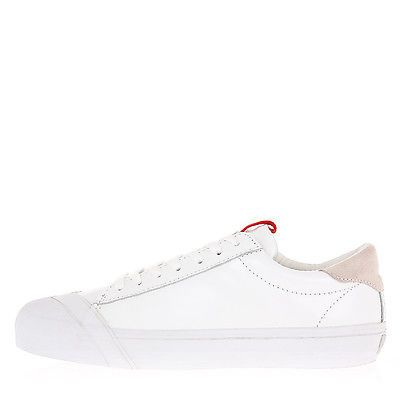 LOSERS New Man White Leather SCHOOLER Shoes Low Sneakers Size 45 ITA 10 USA $139