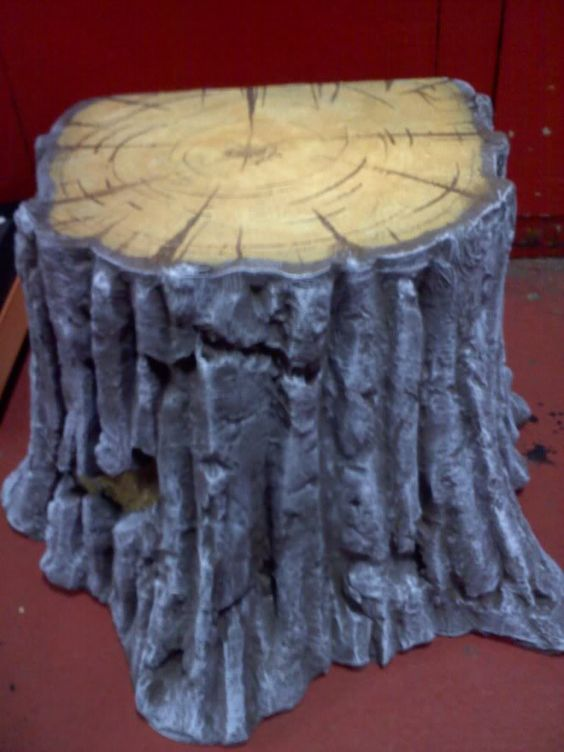 Diy tree stump sooo cool you could save some cash and