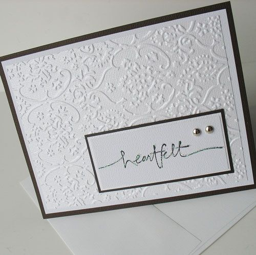 Sympathy Greeting Card: Handmade Blank Note Card - Heartfelt