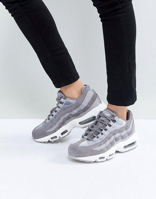 Nike Air Max 95 Velvet Trainers In Grey Sneakers Nike