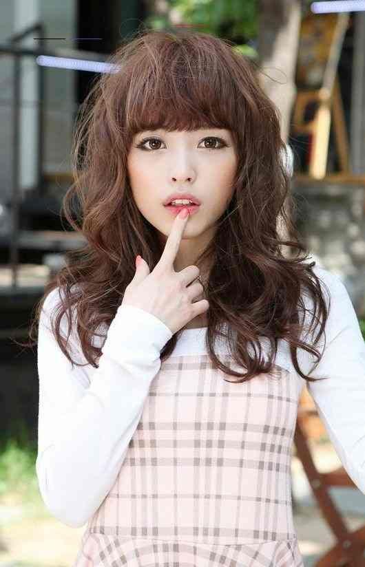 Mädchen Kurzes Haar Japanisches Dünnes hair