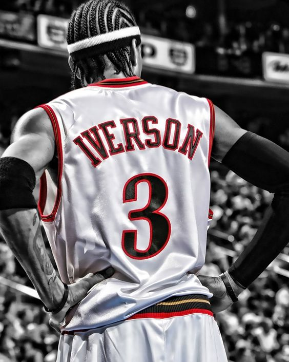 My favorite player as a child, and one of my all time favorites today. I admire Allen Iverson because he gave 110% every time he stepped onto the court and inspired others around him to work hard aswell.