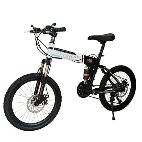 Letff Adult Folding Bike 20 Inches 24 Speed Double Shock