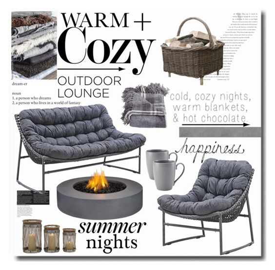 """Cozy Summer Nights"" by keri-cruz ❤ liked on Polyvore"