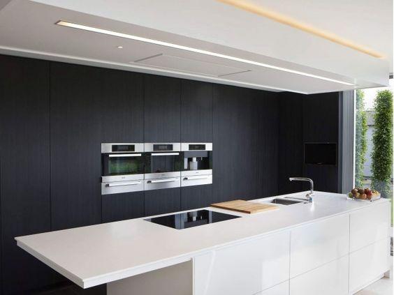 Zwarte Keuken Wit Eiland