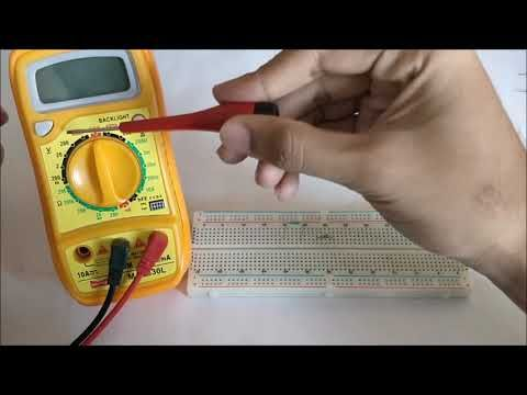 Learn How To Use Digital Multimeter And How To Measure Ac Dc Voltage Dc Current Resistance Check Continuity Of A Circuit With Multimeter Ac Dc Voltage Diode