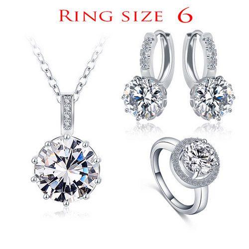 Classical Set Designer Round Necklace/Earring/Ring Set Parure Bijoux Femme CST0034-B
