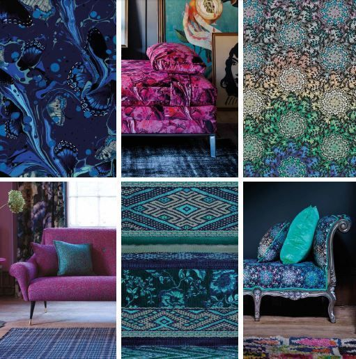 Duresta for Matthew Williamson furniture collection - collaboration between Nottingham-based sofa manufacturer and British fashion designer #durestaformw #mwfurniture #harrodshome