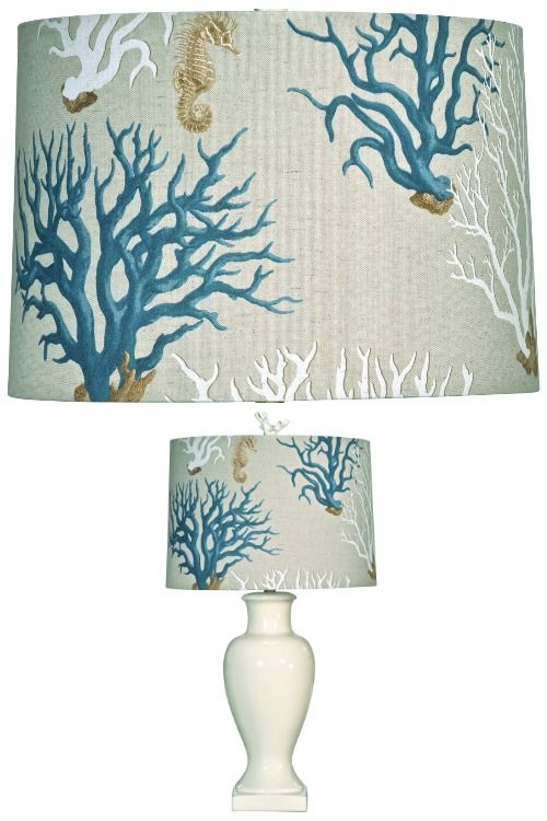 Blue Coral Lampshade