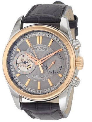 Armand Nicolet Mens 8649A-GL-P964GR2 L07 Hand Wind Watch