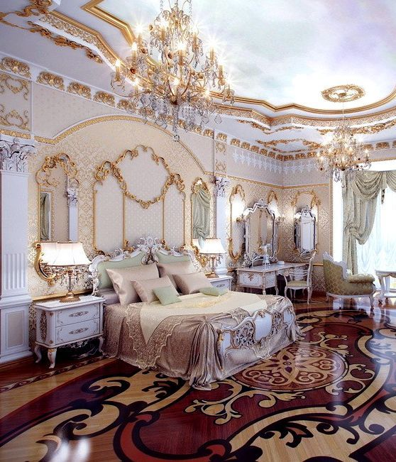 Homedesigning Via 5 Luxurious Interiors Inspired By Louis Era French Design Bedroom Royal Bedroom Bedroom Design Luxury Mansions Interior
