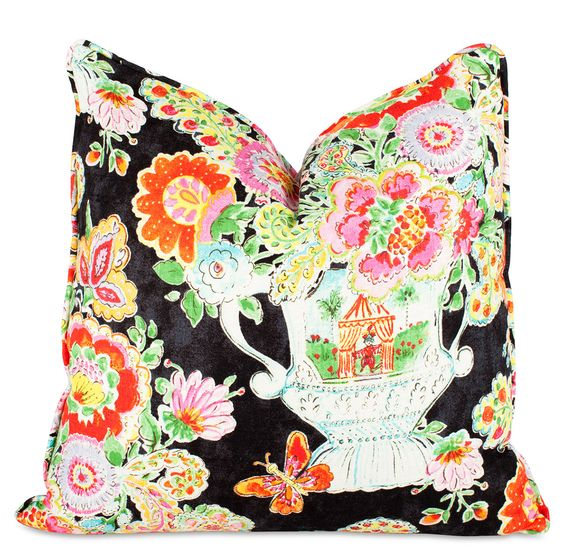 chinoiserie southern throw pillow boho chic decor: