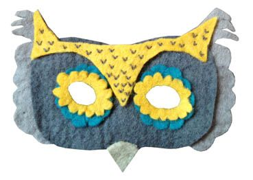 Little Lamb  Owl Felt Mask - $28.95 - www.mymessyroom.com.au