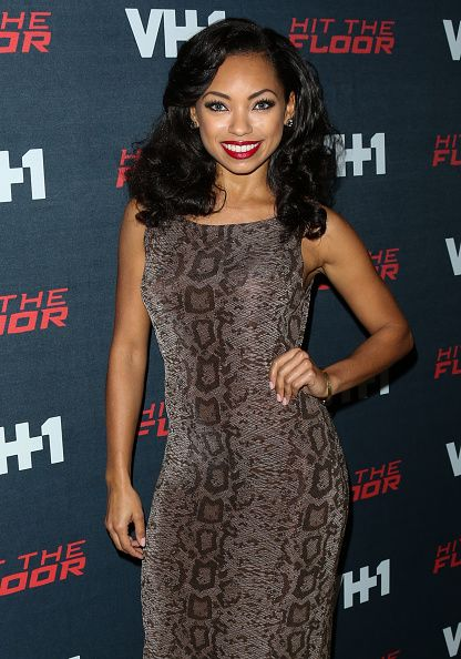 Actress Logan Browning attends the premiere of VH1's 'Hit The Floor' Season 3 at The Paramount Theater on the Paramount Studios lot on January 9 2016...