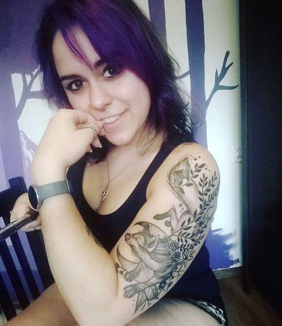 #newtattoo #foxtattoo #tattoo #fox #purplehair #purple #girl #smile #piercing #darkeyes #nowytatuaż #lis #tatuaż #tataużlis #fioletowewłosy #fiolet #uśmiech #l4l
