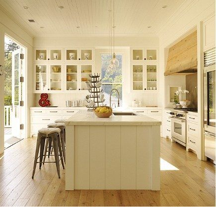 Oh what a dream - a kitchen with French doors outside!
