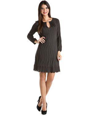 M Missoni Grey Pleated Dress