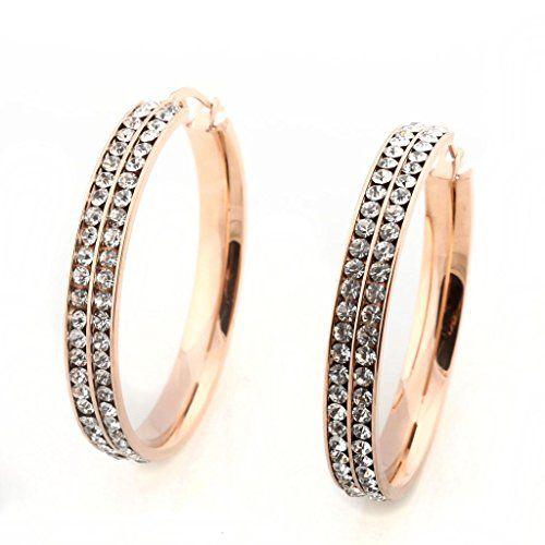BH STEEL Jewellery Women Hoop Earrings,Rhinestone,Stainless Steel Round 2 Rows,Color Rose Gold BH STEEL Jewellery http://www.amazon.co.uk/dp/B00GWF2ZW8/ref=cm_sw_r_pi_dp_DvfBub0G08WBM