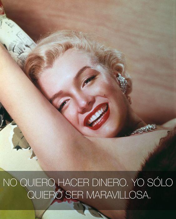 Sentirte bien contigo mism@ es un sentimiento que no se puede comprar.   16 Lecciones de vida que nos enseñó Marilyn Monroe