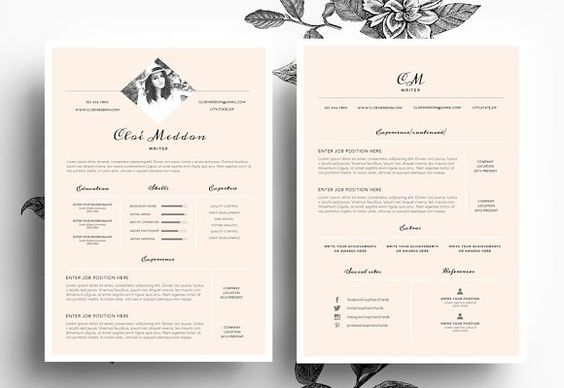 Nice Resume Template Graffias Resumes Pinterest Fonts and - cool resume templates