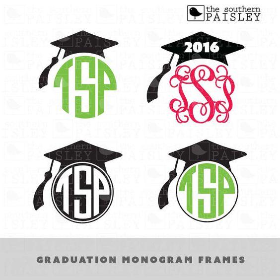 Download Graduation Monogram Frames - .svg/.eps/.dxf/.jpg/.pdf/.ai ...