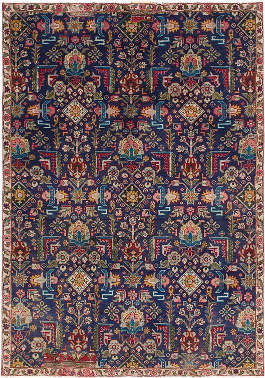 Navy Blue Tabriz Area Rug Blue Persian Rug Antique Persian Carpet Rugs