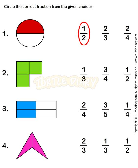 Fractions Worksheet 1 math Worksheets grade1 Worksheets – Grade 1 Math Worksheet