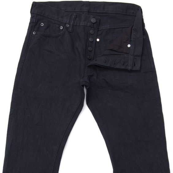 *NEW Pure Blue Japan Jeans - NC-013 Slim Tapered No Fade Black