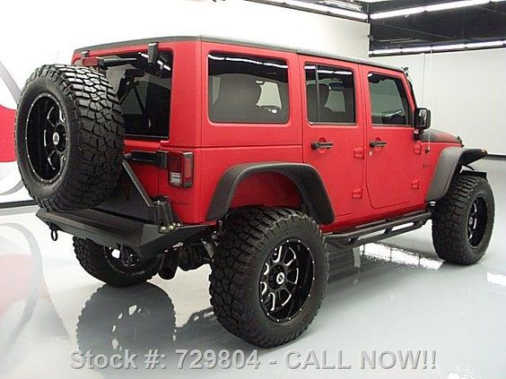 2015 matte red and black customized jeep wrangler. Black Bedroom Furniture Sets. Home Design Ideas