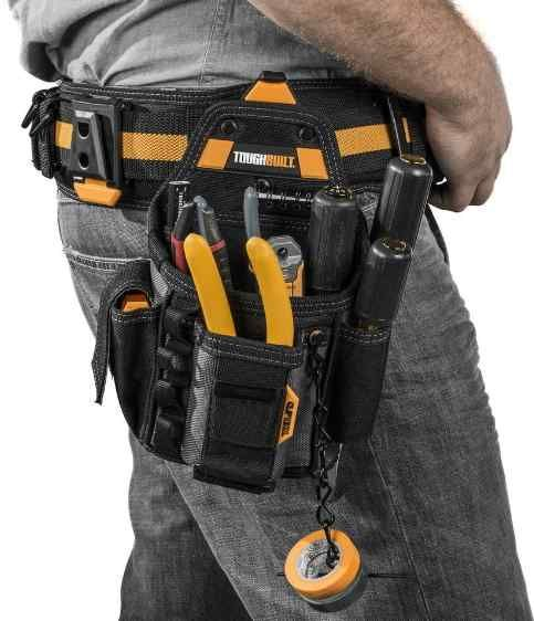 TOUGHBUILT Nylon Work Padded Suspenders Reinforced Utility Tool Belt Industrial