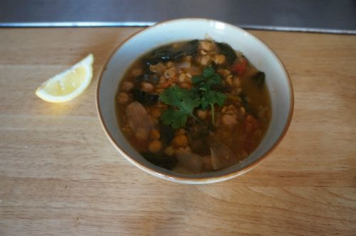 Delicious Moroccan Spiced Chickpea Soup (posted 4/19/12 by UBB)