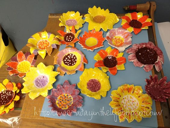 Sunflower Dishes Autumn Art Amp Ideas Pinterest Flower