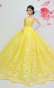 Barbie Doll Yellow Party & Evening Organza / Lace Dresses Dresses