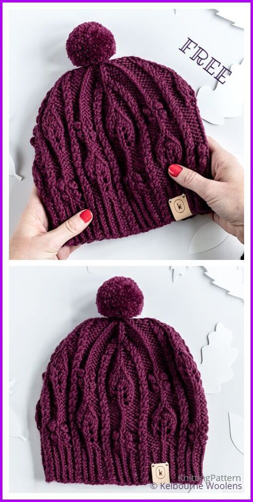Tutorial Knit November Cable Hat Free Knitting Pattern Knitting Pattern In 2021 Knitting Patterns Free Hats Beanie Knitting Patterns Free Ladies Knitting Patterns