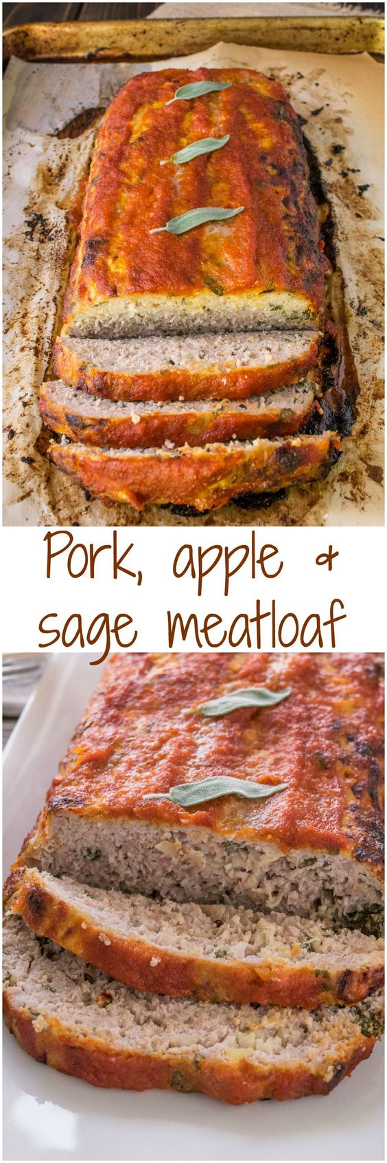Pork, apple and sage meatloaf. Perfect comfort food with all the flavors of Fall.