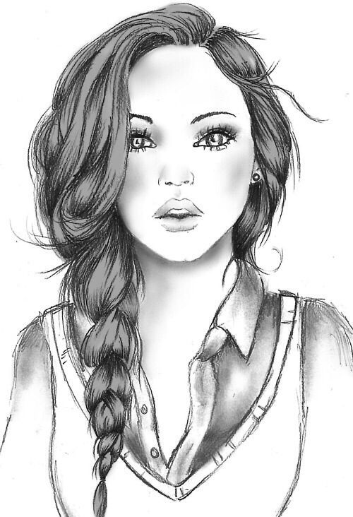 Awesome drawings drawing art and drawings on pinterest for Cool sketches of girls