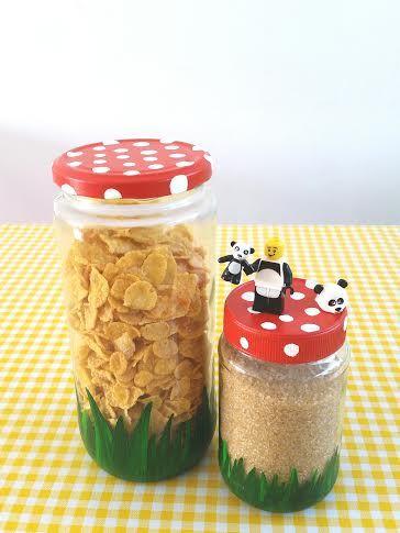 Paddenstoel Potten #DIY / Mushroom Jars
