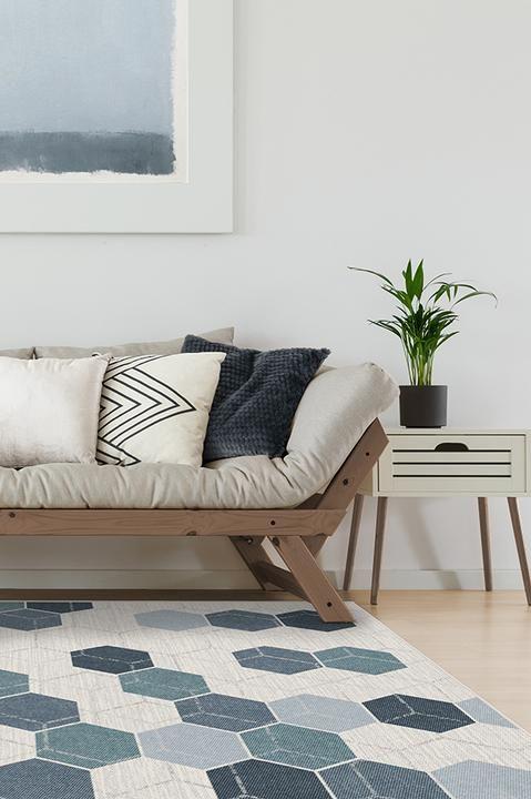 Prisma Slate Blue Rug Rugs In Living Room Home Rugs Grey Rugs