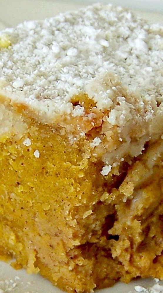 Pumpkin Deep Butter Cake.