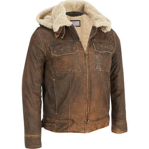Details about Men's Wilsons Vintage Leather Bomber Jacket w/Faux ...