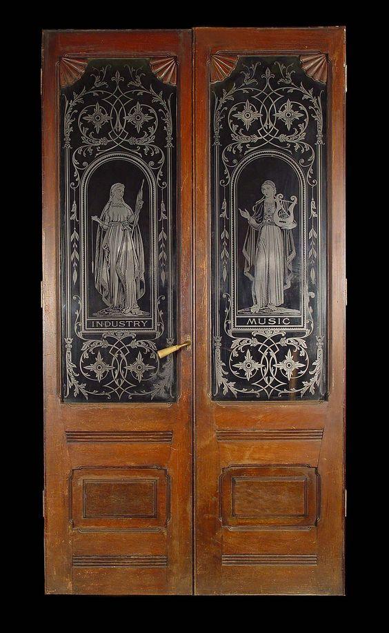 Antique Etched Doors