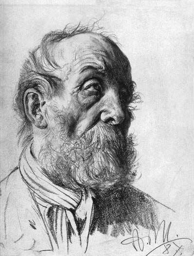 Sketch by Adolph von Menzel: