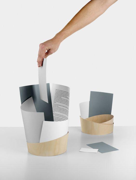 A4 la poubelle à construire par Marie Douel
