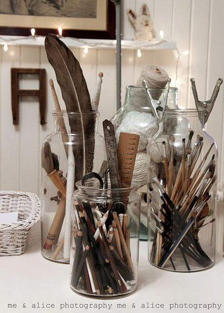 Cute way to organize craft stuff