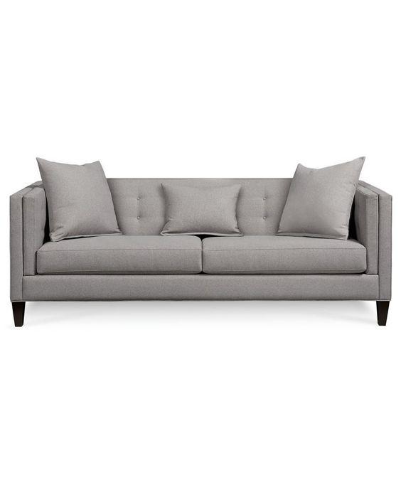 Sofa Macys: Braylei Track Arm Sofa With 2 Toss Pillows