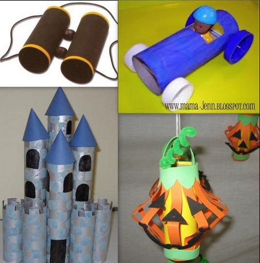 Toilets towels and for kids on pinterest for Tissue tube crafts